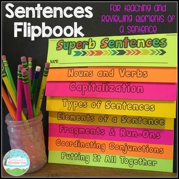 Super Sentences Flip Book