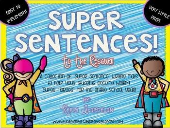 Super Sentences! Year Long Writing Pack