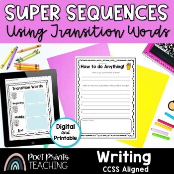 Sequence and Transition Words Writing Activity Free