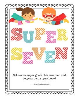 Super Seven Summer Chore Chart by That Southern Chick