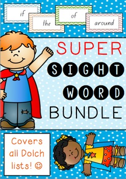 Super Sight Word Mega Bundle *Covers all 5 Dolch lists!*