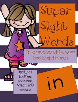 Super Sight Words - In (interactive sight word book)
