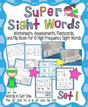 Sight Word Activity Pack Set 1
