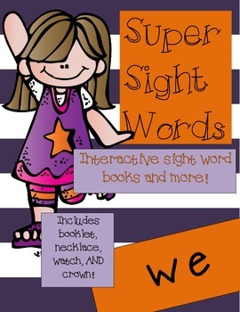 Super Sight Words - We (interactive sight word book)
