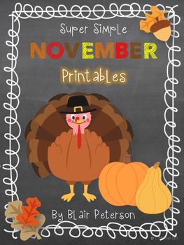 Super Simple November Printables