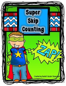 Counting Practice Math Center - Super Skip Counting Center