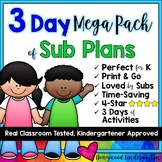 Super Speedy Sub Plans MEGA PACK!  3 days of activities to