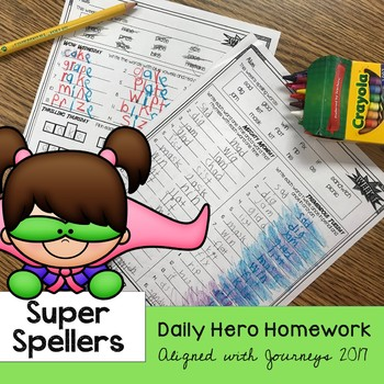 Super Spellers - Spelling Homework for the entire year - J