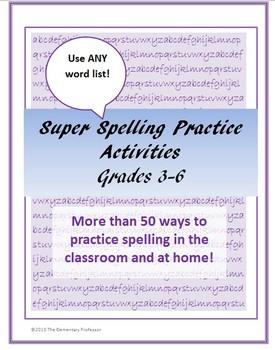 Super Spelling Practice Activities for Upper Grades for AN