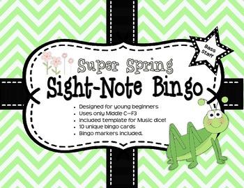 Super Spring Sight-Note Bingo: Bass Staff