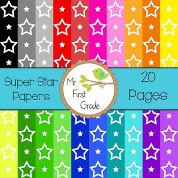 Super Star Papers [20 Images for Commercial Use]