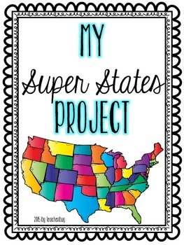 Super States Project Pack - Project Based Learning for Our