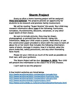 Super Storm Research Project