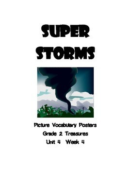 Super Storms Picture Vocabulary Posters for Grade 2 Treasures