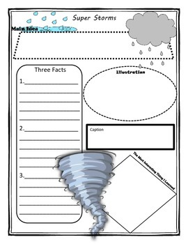 Super Storms Story Map Graphic Organizer