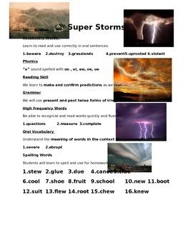 Super Storms - Weekly Skill Sheet - 2nd Grade Treasures