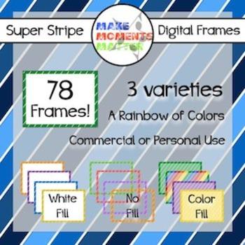 Super Striped Frames!
