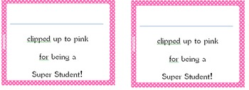 Super Student Pink Note