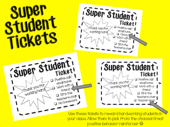 Super Student Tickets