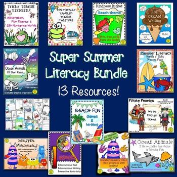 Super Summer Literacy Bundle