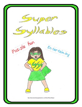 Super Syllables, puzzles and task cards