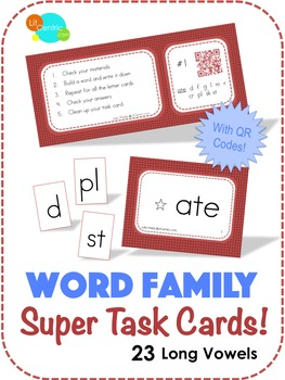 Word Family Super Task Cards! - Long Vowels
