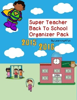 Super Teacher Back To School Organizer Pack