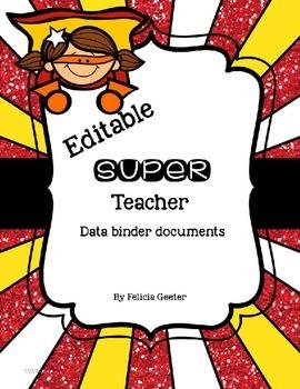 Super Teacher Data Binder {Editable}