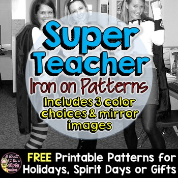 Super Teacher Iron-on Patterns-Perfect for Halloween, Appr