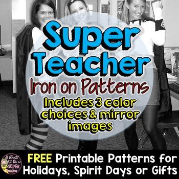 Super Teacher Halloween Costume Iron-on Patterns