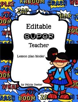 Super Teacher Lesson Plan Binder {Editable}