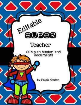 Super Teacher Sub binder