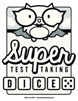 Super Test Taking Vocabulary Dice Game