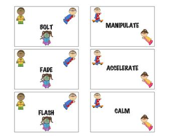 Super Verbs! Superhero Action Words