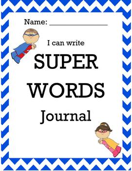 Super Words Journal