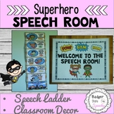 Super hero Speech Ladder and Classroom Decor