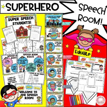 Super hero Speech Ladder and Classroom Decor
