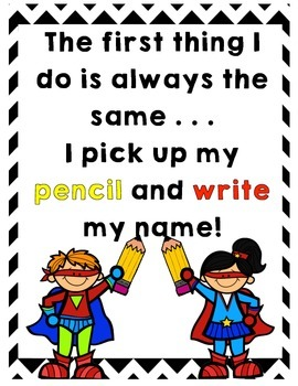 SuperHero Name Poster