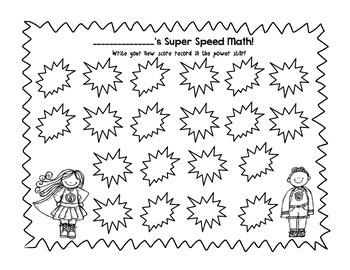 SuperSpeed Math Record Sheet