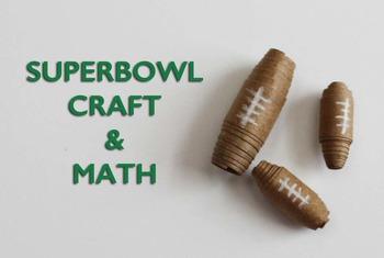Superbowl Craft with Math Activities