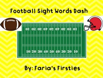 Superbowl Football Dash Third Grade Dolch Words