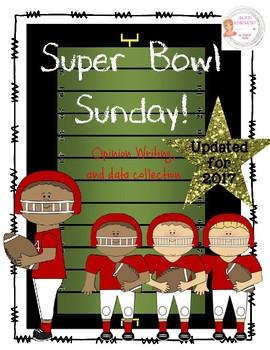 Football Superbowl Sunday Opinion Writing & Craftivity *Up