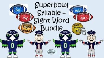 Superbowl Syllable/Sight Word Bundle