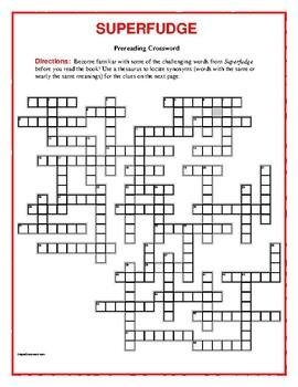 Superfudge: 50-word Prereading Crossword—Familiarizes stud