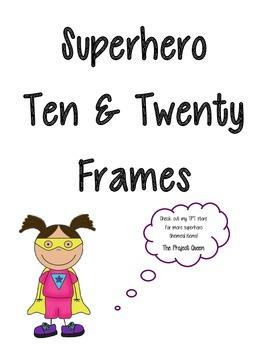 Superhero 10 Frame and 20 Frame Cards - Plus Bonus Structu