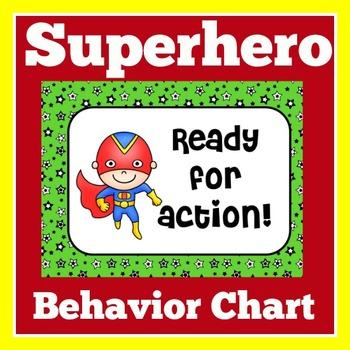 Superhero Clip Chart   Superhero Theme   Superhero Behavior Chart