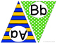 Superhero ABC Word Wall Pennant Banner