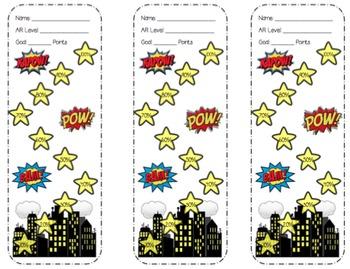 Superhero AR Bookmarks
