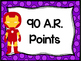 Superhero Accelerated Reader Points Chart