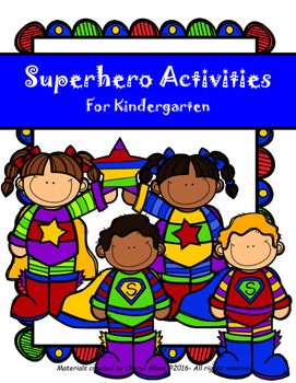 Superhero Activities for Kindergarten